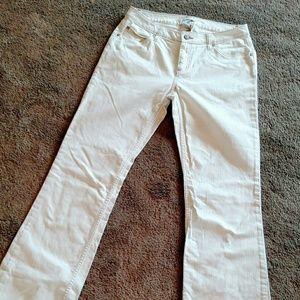 Cabi White Flare Jeans 10